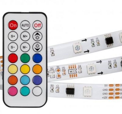 SPI-5000SE-5060-30 12V CX3 RGB-REMOTE (10MM, 7.2W, IP65) 30 LED