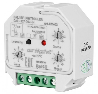 DALI-307-DIM-IN (DALI-BUS, RF, PUSH)